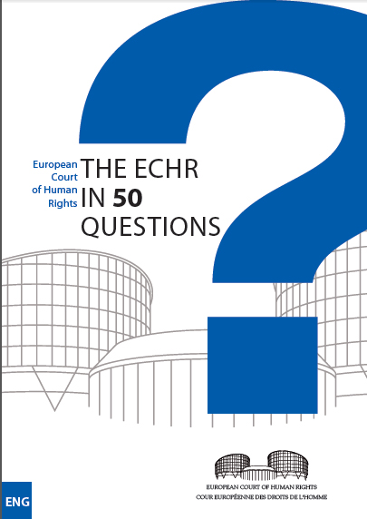 Image for Court Publishes Online Handbook, The ECHR in 50 Questions