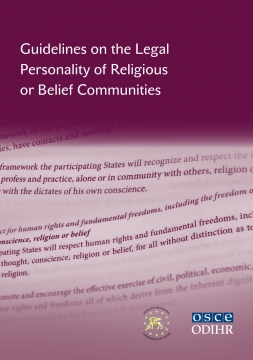 Image for Report: Launch Event for the ODIHR/Venice Commission Guidelines on the Legal Personality of Religious or Belief Communities - 4 February 2015